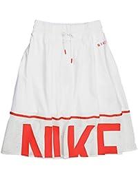 NIKE ナイキ メッシュ スカート レディース スポーツミックス フレア ひざ丈 893662 ホワイト