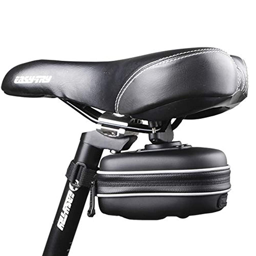 防水以上彼は自転車防水テールバッグ1つのハードシェルサドルバッグクッションバッグサイクリングバッグ防水 自転車サドルバッグ大容量