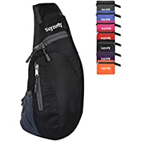 Men Women Foldable Sling Bags Shoulder Chest Backpack Crossbody Daypack for Cycling Walking Hiking