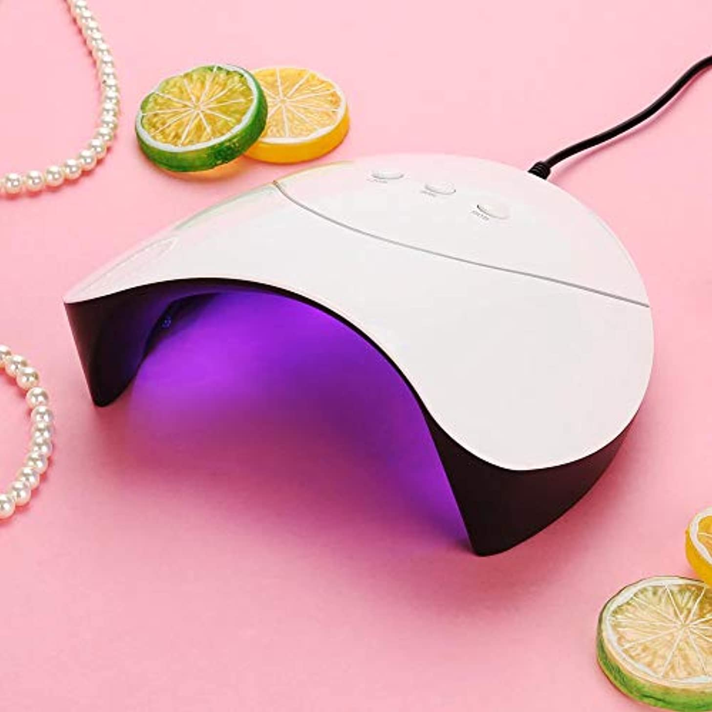 進化する作詞家別れるネイルドライヤー 36W UV&LEDライト 硬化 ジェルネイル ネイルアート 3つのタイマー 赤外線検知 自動センサー