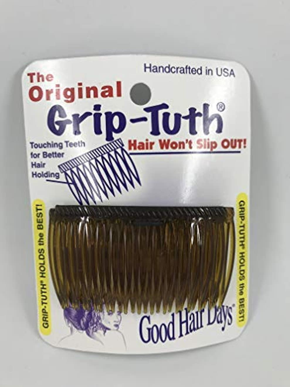 ペイント危険なニュースGood Hair Days Grip Tuth Combs 40405 Set of 2, Tortoise Shell Color 2 3/4