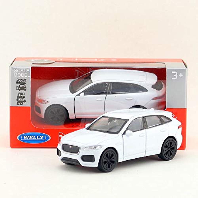 WELLY 1/36 スケールプルバック車のおもちゃ英国ジャガー F ペース SUV ダイキャスト金属車モデルグッズギフト?子供?コレクション