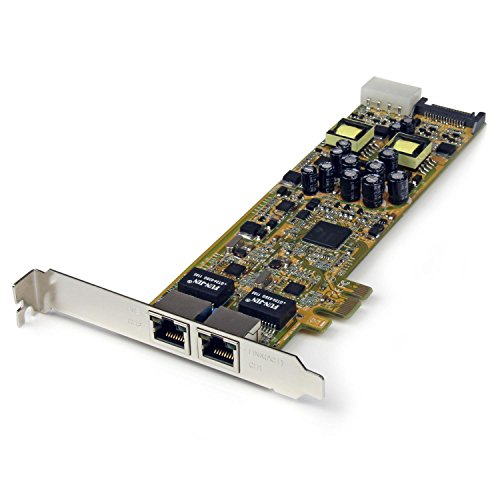 スターテック.com 2ポートギガビットイーサネット増設PCI ExpressネットワークアダプタLANカード(PoE/PSE対応) PCIe対応2x Gigabit Ehernet NIC ST2000PEXPSE