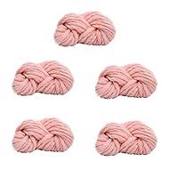 5かせ糸編み超ソフトかさばるのは、DIY の製織のための分厚い放浪,Pink