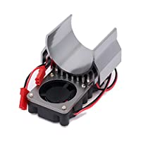 (Titanium) - RCAWD Heat Sink Heatsink Motor 540/545/550 Size with 2 Fans Cooling Head Vent Top JST Alloy Aluminium for 1/10 RC Hobby Model Car HSP HPI Wltoys Himoto Tamiya 1Pcs