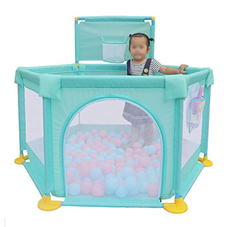 子供の遊び場のボールの安全性のPlayardマットレスアンチコリジョンPlayardと幼児のためのポータブルプレイペン繁殖可能なメッシュのプレイペン