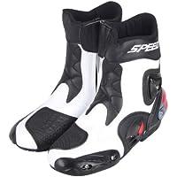 強化防衛性PRO スポーツバイク用レーシングブーツ/オートバイ靴/PRO SPEED ホワイト&42(26-26.5CM約)