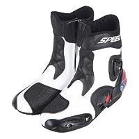 強化防衛性PRO スポーツバイク用レーシングブーツ/オートバイ靴/PRO SPEED ホワイト&40(25-25.5CM約)