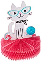 Purrfect Party Centerpiece Honeycomb Shaped