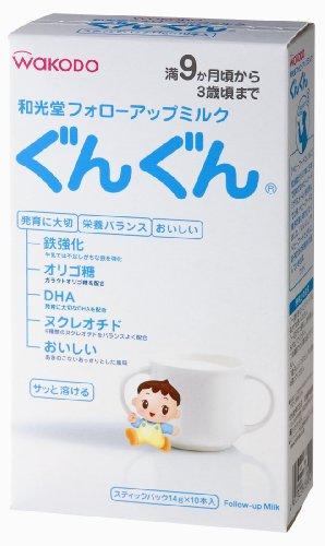 和光堂 フォローアップミルク ぐんぐん スティックパック 14g×10本