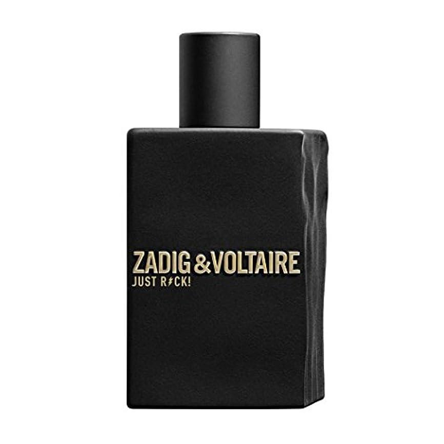 翻訳デコレーション相続人Zadig & Voltaire Just Rock! For Men Eau de Toilette 100ml 3.3oz