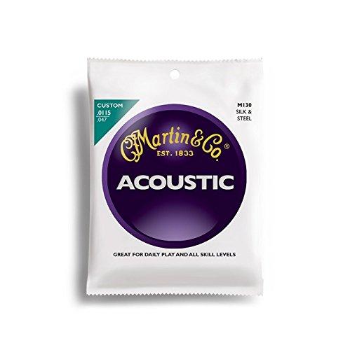 Martin アコースティックギター弦 ACOUSTIC?(Silk&Steel Folk) M-130 Traditional .011-.047