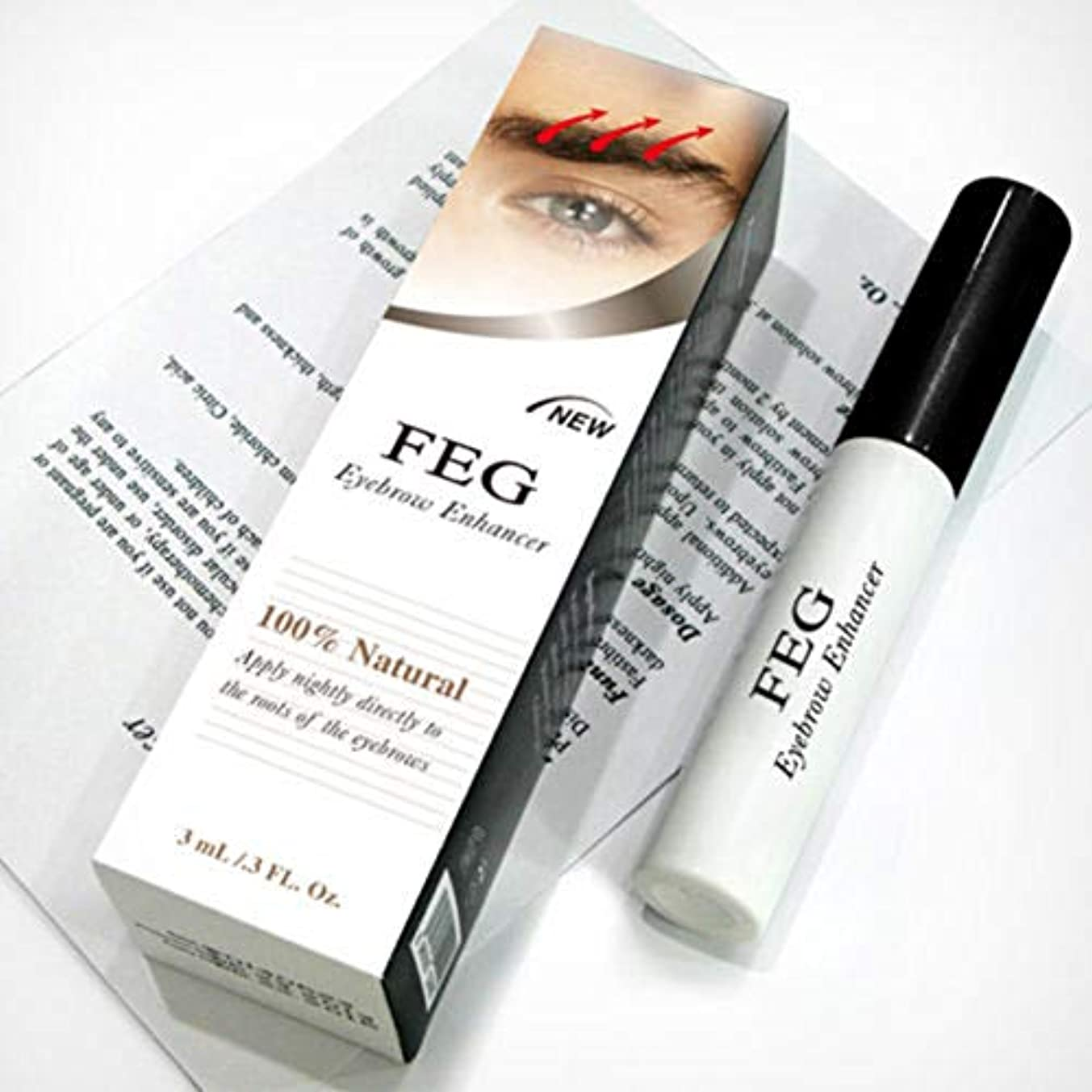バレル努力百万Rabugoo 3g健康な光沢のある眉毛の成長血清のエッセンス無毒の安全な成分眉毛のエンハンサー液体
