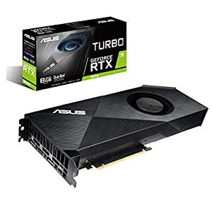 ASUS Turbo GeForce RTX™2070リフレッシュレートとVRゲームのための強力な冷却機能を備えた ビデオカード TURBO-RTX2070-8G