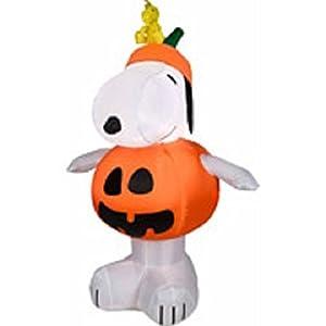 Peanuts ピーナッツ Halloween ハロウィーン Airblown Inflatable 3 1/2 Snoopy スヌーピー Pumpkin w/ Led Lights By Gemmy [並行輸入品]