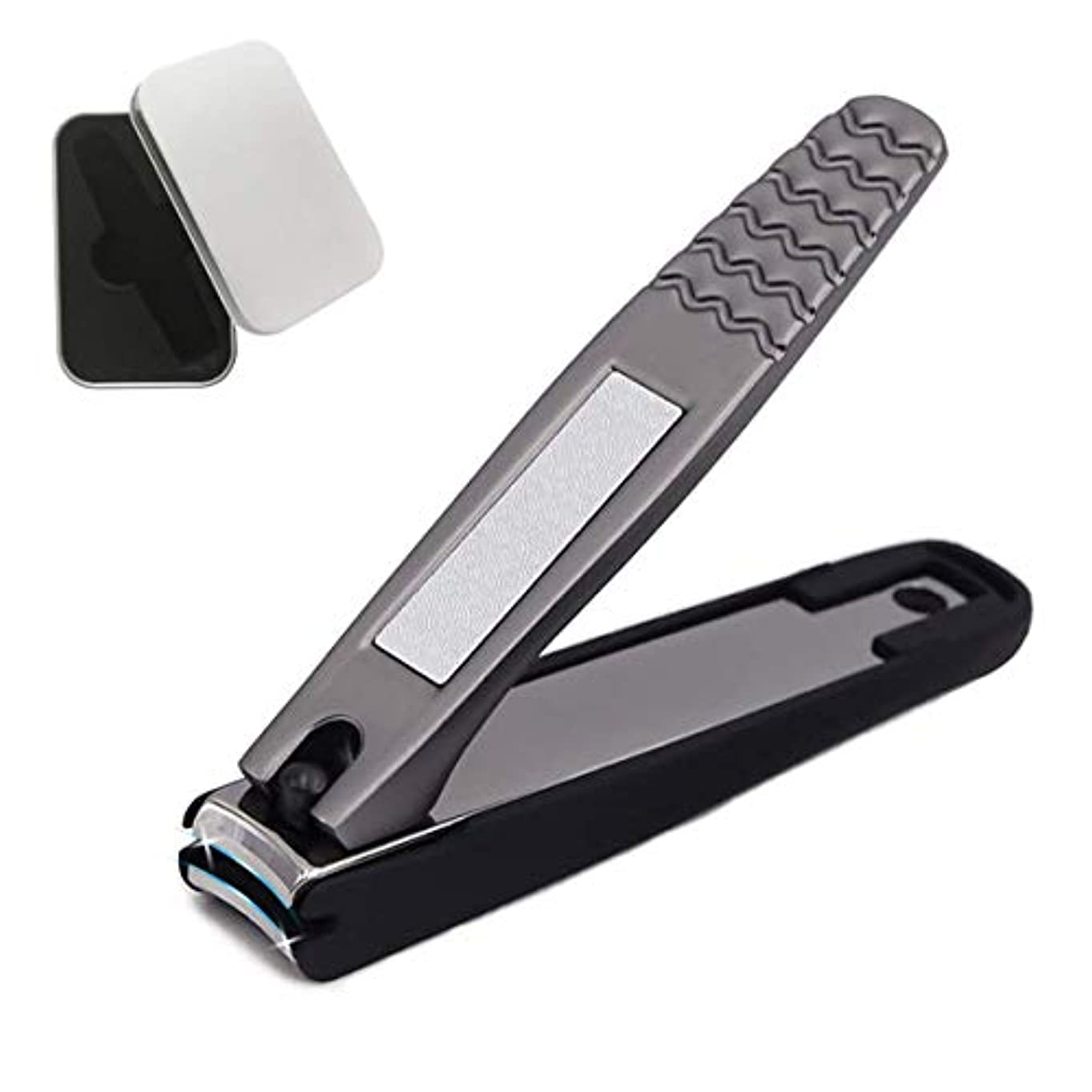 高級飛び散り防止爪切り 爪切り つめきり ステンレス製 ニッパー 金属ケース付き