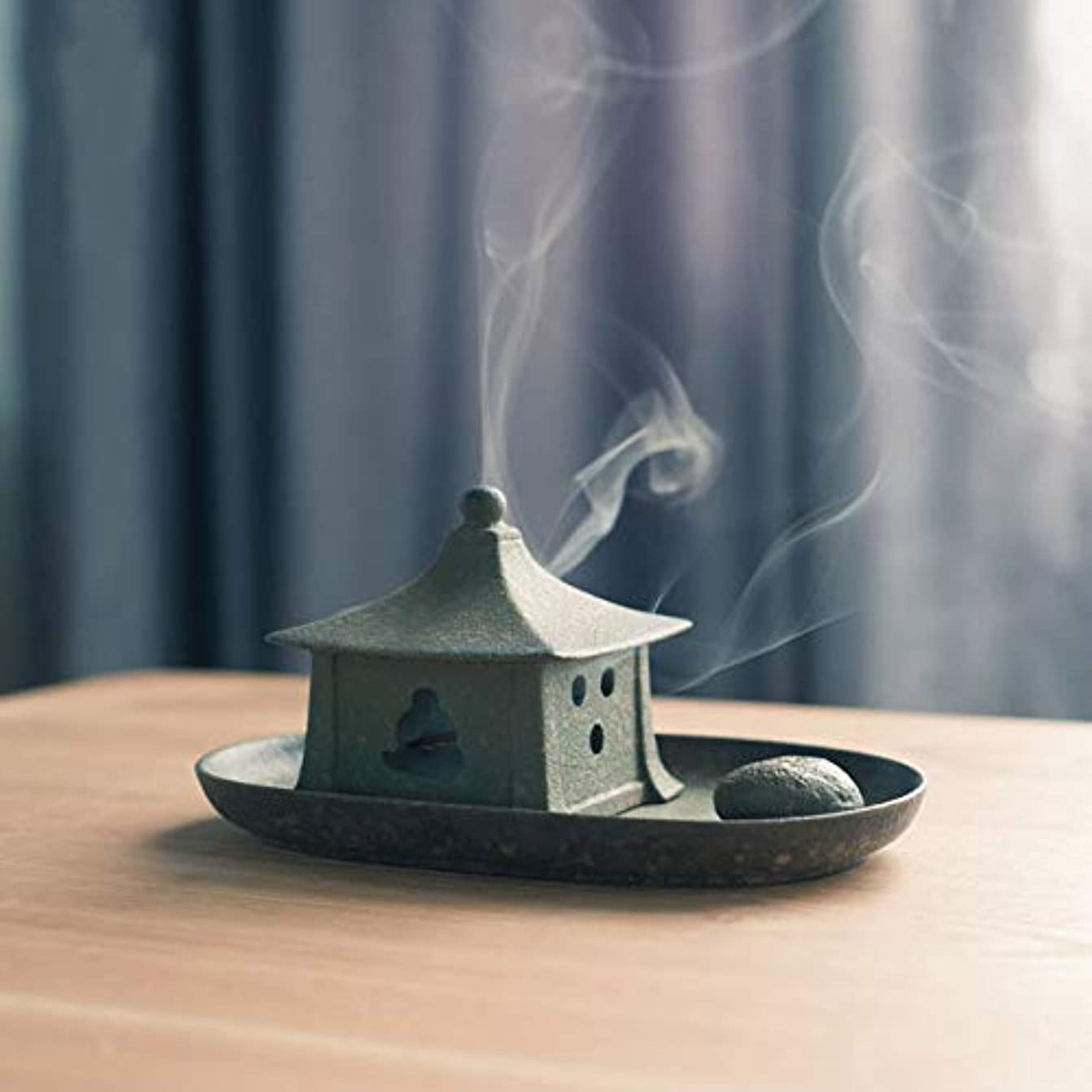 ポップ責トロリーバスPHILOGOD 陶器香炉 クリエイティブスタイリング 渦巻き線香立て 仏壇用 香置物 香皿