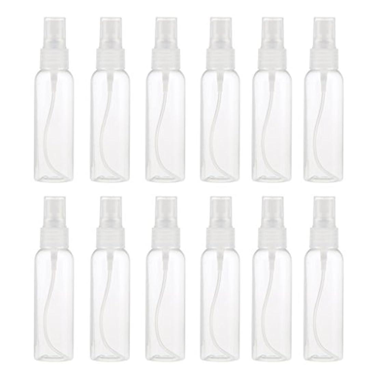 マラドロイト南東出血プラスチック メイクアップ 分装 スプレーボトル 液体香水 詰め替え 旅行用 60ミリ 12PCS - クリア