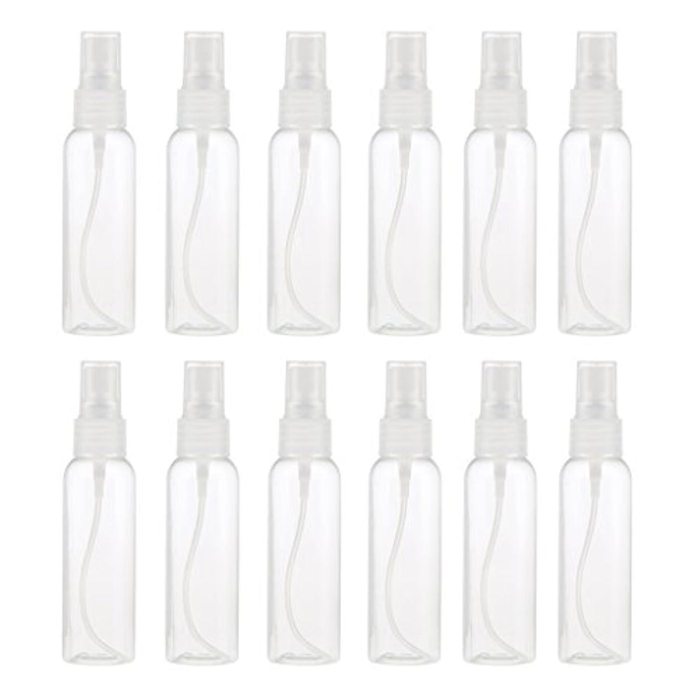 重要性違反スムーズにKesoto お買得 プラスチック 分装瓶 スプレーボトル ミストアトマイザー 液体香水 詰め替え 旅行用 60ml 12PCS - クリア