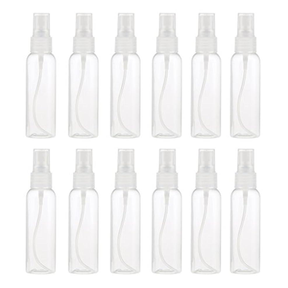 マントル適合しました薬剤師Kesoto お買得 プラスチック 分装瓶 スプレーボトル ミストアトマイザー 液体香水 詰め替え 旅行用 60ml 12PCS - クリア