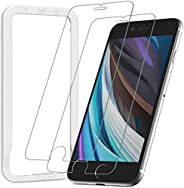 [Guide Frame Included] Nimaso Tempered Glass LCD Protective Film for iPhone 8 & iPhone 7, Pack of 2, Mater