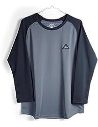 FRANK MFG FK-004-02 3/4-Sleeve ブラック/グレー/ブラック&グレー (Sサイズ, ブラックxグレー)