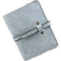 ヨーロピアンスタイルショート財布レザーハンドバッグMini pouch-lightブルー