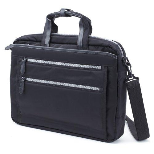 木和田 URBAN ROAD アーバンロード 2way ビジネス ブリーフケース ショルダーバッグ 2ルーム PCポケット付き 軽量 撥水 ブラック 5993-BK