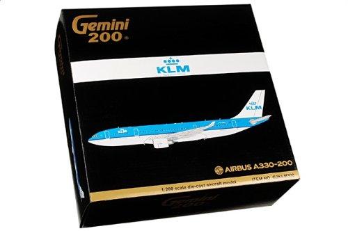 1:200 ジェミニジェット 200 G2KLM300 エアバス A330-300 ダイキャスト モデル KLM ロイヤル オランダ 航空 PH-AOH【並行輸入品】