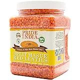 Pride Of India - Indian Split Masur Red Lentils - Protein & Fiber Rich Masoor Dal, 3 Pound Jar