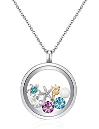 Mestige Jewellery Under the Sea Floating Charm Necklace with Swarovski® Crystals