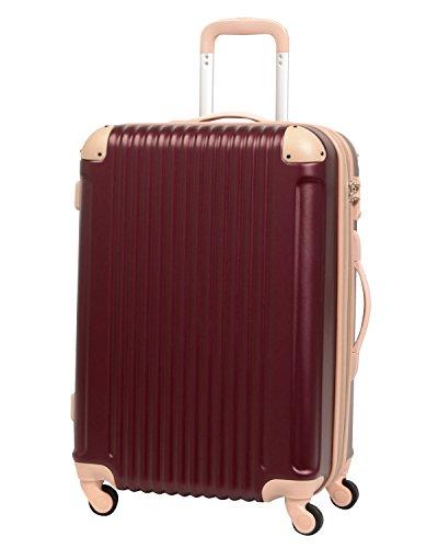 L型 アズキ×ベージュ / FK1212-1(POP・DO) スーツケース キャリーバッグ TSAロック搭載 大型 超軽量