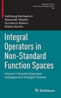Integral Operators in Non-Standard Function Spaces: Volume 1: Variable Exponent Lebesgue and Amalgam Spaces (Operator Theory: Advances and Applications)