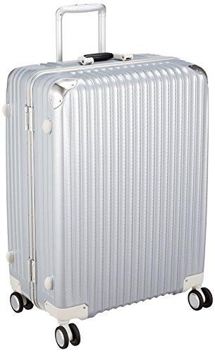85500c765d [カーゴ] スーツケース ハードキャリー フレーム   双輪消音キャスター   TSAロータリーロック   保証付 100L 66 cm 5.4kg  シルバーカーボン 容量100Lと大容量タイプの ...