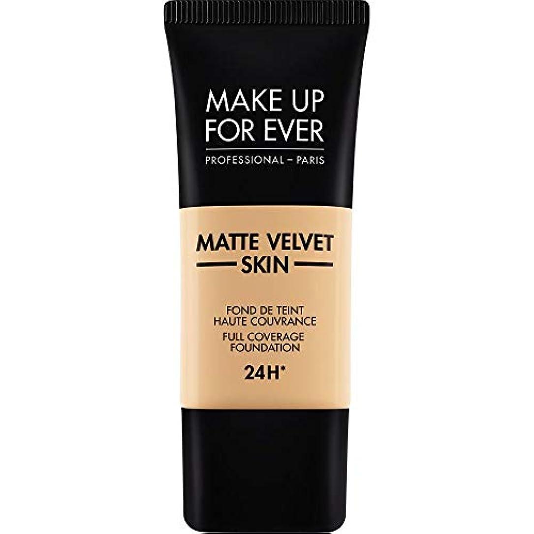 格納救援科学[MAKE UP FOR EVER ] 暗い砂 - これまでマットベルベットの皮膚のフルカバレッジ基礎30ミリリットルのY335を補います - MAKE UP FOR EVER Matte Velvet Skin Full...