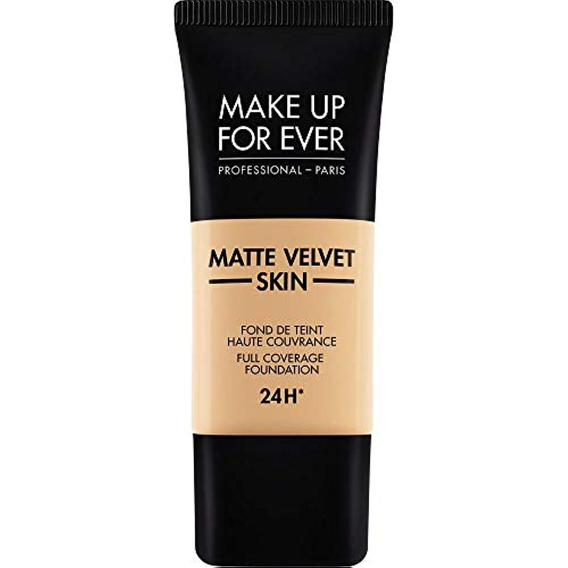 サラダ愛撫家事[MAKE UP FOR EVER ] 暗い砂 - これまでマットベルベットの皮膚のフルカバレッジ基礎30ミリリットルのY335を補います - MAKE UP FOR EVER Matte Velvet Skin Full...