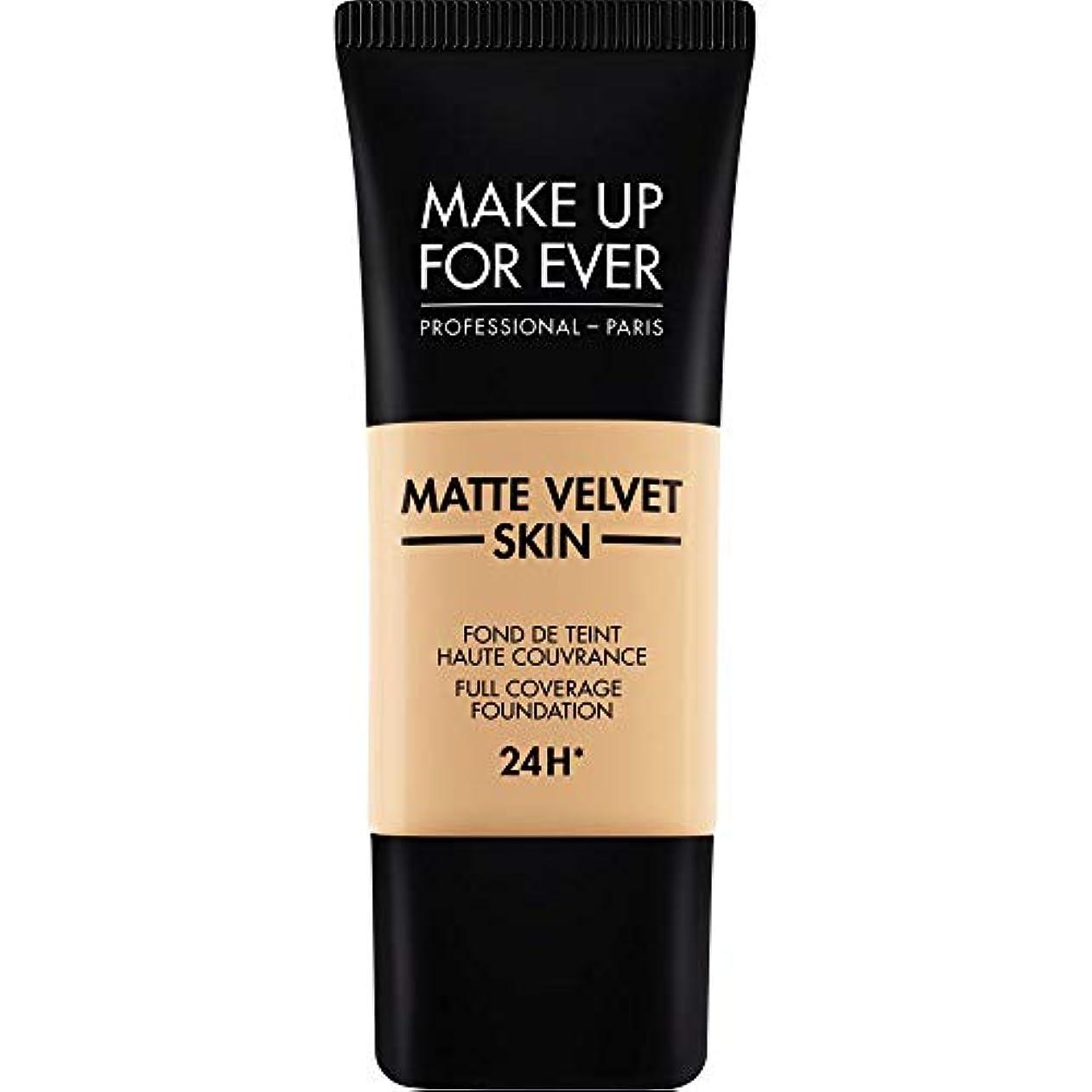 画像デクリメントグラマー[MAKE UP FOR EVER ] 暗い砂 - これまでマットベルベットの皮膚のフルカバレッジ基礎30ミリリットルのY335を補います - MAKE UP FOR EVER Matte Velvet Skin Full...