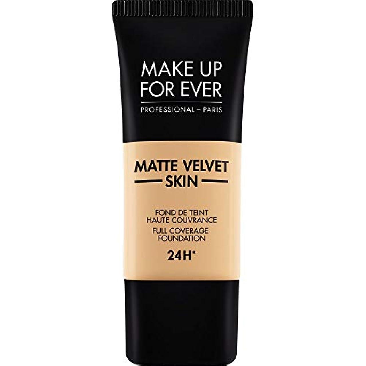 メナジェリー刃後ろに[MAKE UP FOR EVER ] 暗い砂 - これまでマットベルベットの皮膚のフルカバレッジ基礎30ミリリットルのY335を補います - MAKE UP FOR EVER Matte Velvet Skin Full Coverage Foundation 30ml Y335 - Dark Sand [並行輸入品]