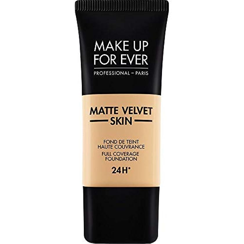 かもめ食器棚面積[MAKE UP FOR EVER ] 暗い砂 - これまでマットベルベットの皮膚のフルカバレッジ基礎30ミリリットルのY335を補います - MAKE UP FOR EVER Matte Velvet Skin Full...