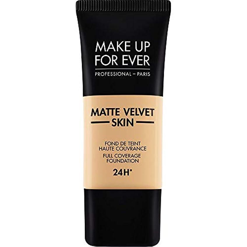 彼書き込み批判的[MAKE UP FOR EVER ] 暗い砂 - これまでマットベルベットの皮膚のフルカバレッジ基礎30ミリリットルのY335を補います - MAKE UP FOR EVER Matte Velvet Skin Full...