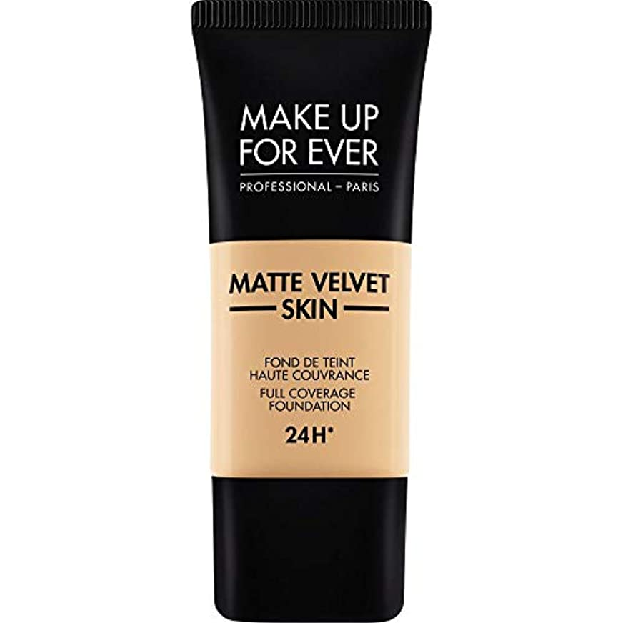 ゴミ正午放棄された[MAKE UP FOR EVER ] 暗い砂 - これまでマットベルベットの皮膚のフルカバレッジ基礎30ミリリットルのY335を補います - MAKE UP FOR EVER Matte Velvet Skin Full...