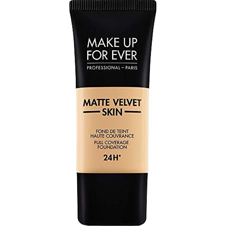 クレデンシャル裁判官発明する[MAKE UP FOR EVER ] 暗い砂 - これまでマットベルベットの皮膚のフルカバレッジ基礎30ミリリットルのY335を補います - MAKE UP FOR EVER Matte Velvet Skin Full...
