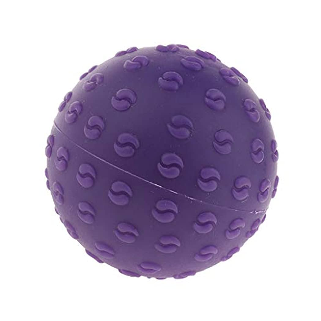 メジャー迫害武器FLAMEER 全6色 シリコーンマッサージボール 指圧ボール トリガーポイント ヨガ 肩、足、首、腕 解消 耐摩耗 - 紫, 説明のとおり