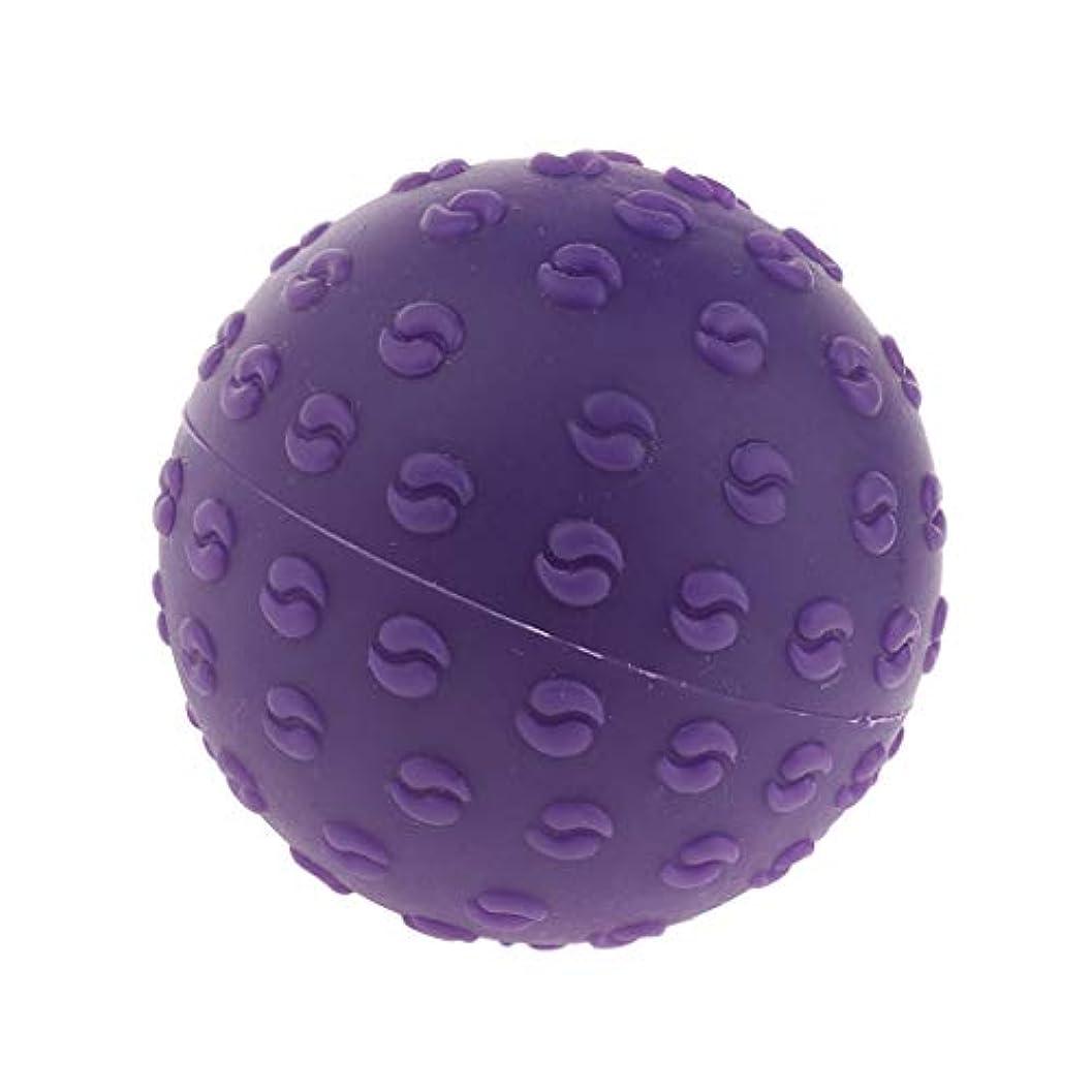 地震混沌宇宙船FLAMEER 全6色 シリコーンマッサージボール 指圧ボール トリガーポイント ヨガ 肩、足、首、腕 解消 耐摩耗 - 紫, 説明のとおり