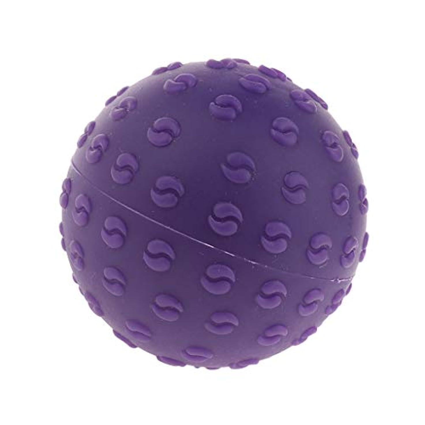火星すごい面倒Perfeclan 全6色 マッサージボール 指圧ボール シリコーン トリガーポイント 足底筋膜炎 ヨガ 耐油性 快適 - 紫, 説明のとおり