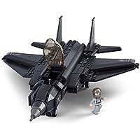 LEGO 互換 ブロック 米軍 エアフォース F35 ステルス戦闘機 全長36cm ミニフィグ付き