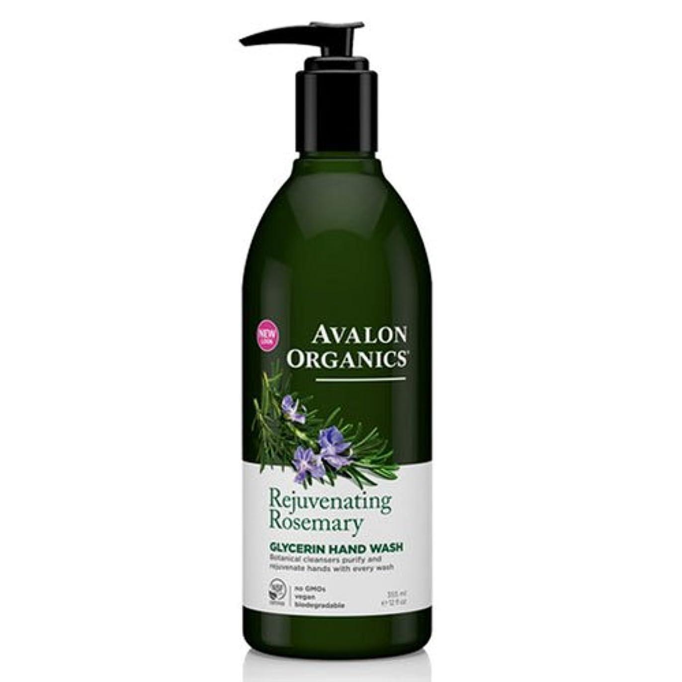 生理輸血忠実海外直送品Avalon Organics Hand Soap Glycerin, Rosemary 12 Oz (Pack of 6)