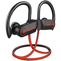 BassPal Bluetoothイヤホン bluetoothヘッドセット Bluetooth4.1ワイヤレスイヤホン ブルートゥースイヤホン スポーツイヤホン 高音質ランニング用 ノイズキャンセリング IPX7完全防水 防汗 耳掛け式
