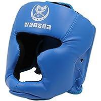 視界 が 広くて ずれにくい 分厚い クッション 高密度 ゴム 使用 ボクシング ヘッドギア 空手 ムエタイ 格闘技 TI024 (c.青)