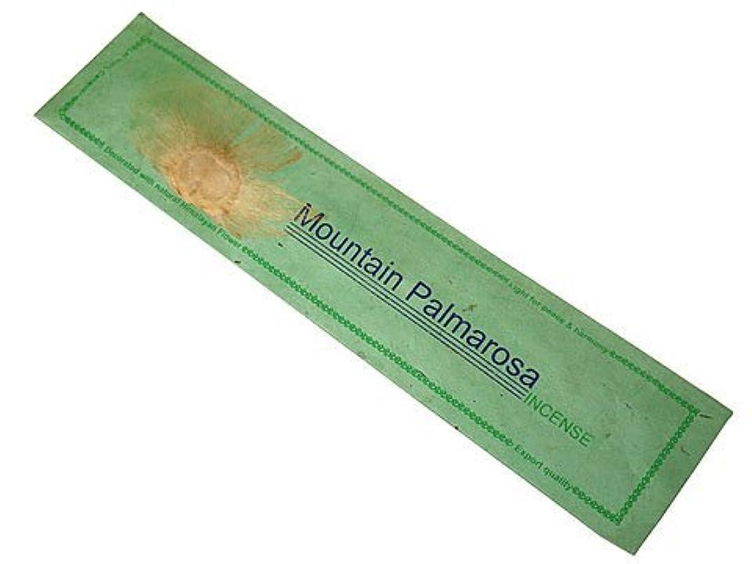ミリメーターふさわしい天国NEPAL INCENSE ネパールのロクタ紙にヒマラヤの押し花のお香【MountainPalmarosaマウンテンパルマローザ】 スティック